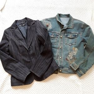 Buy MNG by Mango suit jacket free jeans jacket